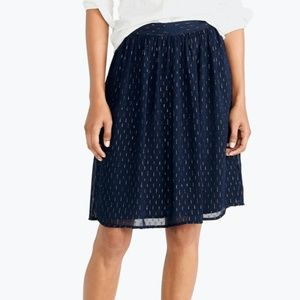 NWOT J Crew Navy with Gold Skirt